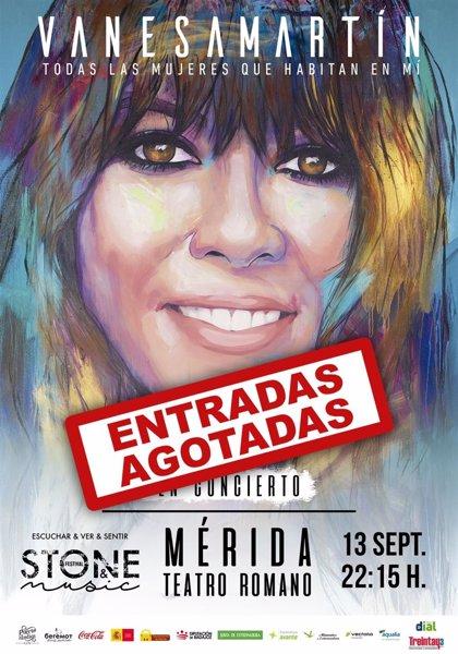 Vanesa Martín agota las entradas para su concierto en el Teatro Romano de Mérida el 13 de septiembre