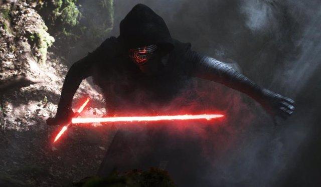 Adam Driver en 'Star Wars: El despertar de la fuerza'