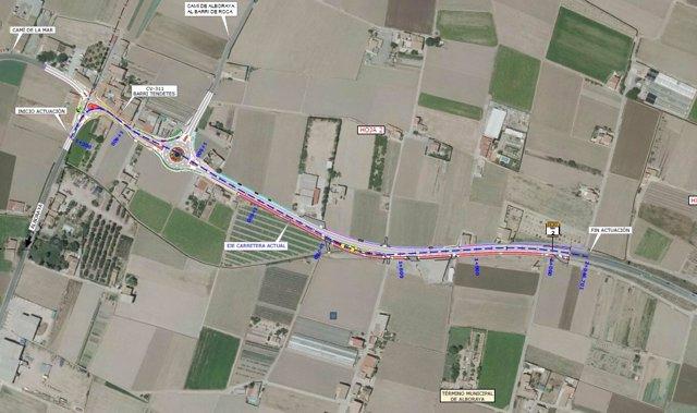 Proyecto de la Diputación de València de reforma de la CV-311