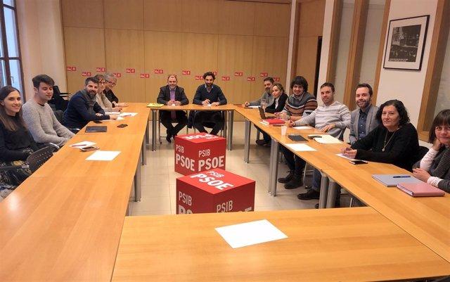 Comité electoral del PSIB liderado por Cosme Bonet