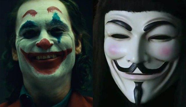 Joker y V de Vendetta
