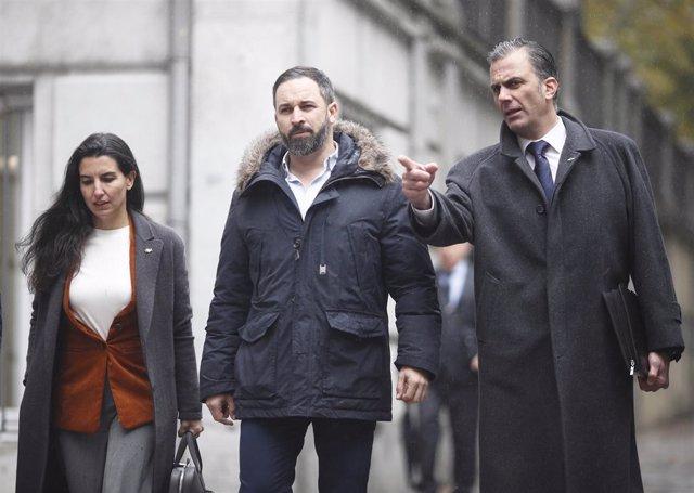 Rocío Monasterio, Santiago Abascal y Javier Ortega Smith