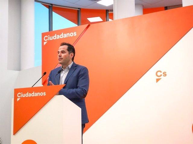 IGNACIO AGUADO RUEDA DE PRENSA DEL COMITÉ AUTONÓMICO DE CIUDADANOS