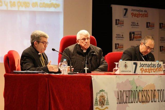 El arzobispo de Toledo, Braulio Rodriguez, y monseñor Luis J. Argüello
