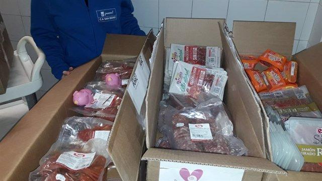 Donación de INTERPORC al centro de acogida San Isidro