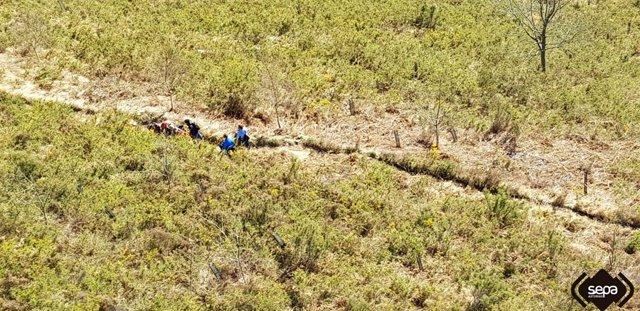 Rescate de montaña en Cangas de Onís.