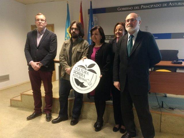 Presentación del logotipo de la candidatura de la cultura sidera.