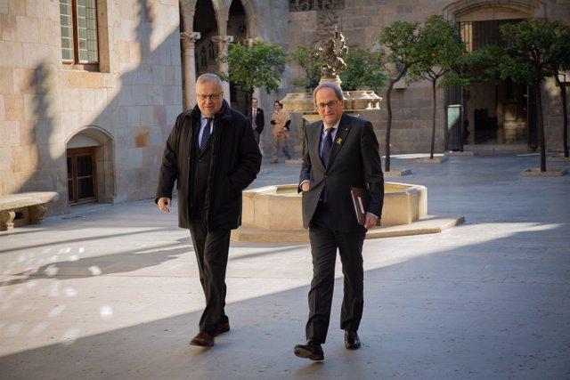 El president de la Generalitat, Quim Torra, en una imatge d'arxiu.