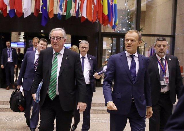 Jean-Claude Juncker y Donald Tusk, en una imagen de archivo
