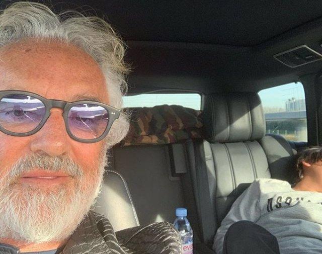 Instagram Flavio Briatore e hijo Falco