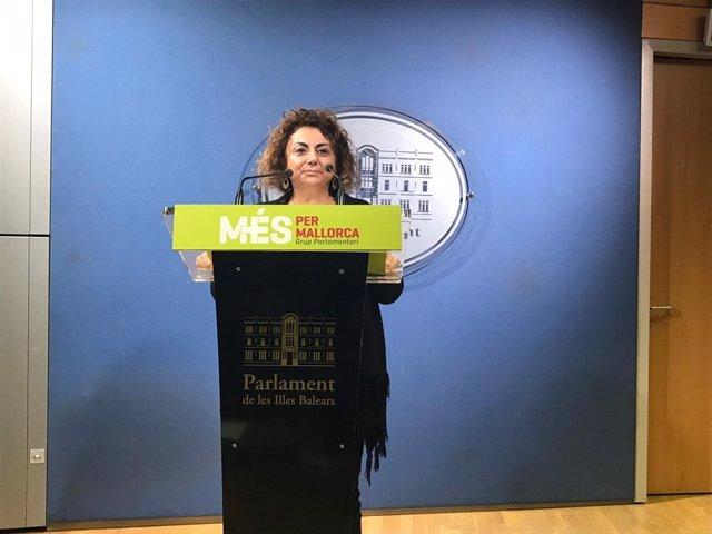 La portavoz de MÉS per Mallorca, Joana Aina Campomar