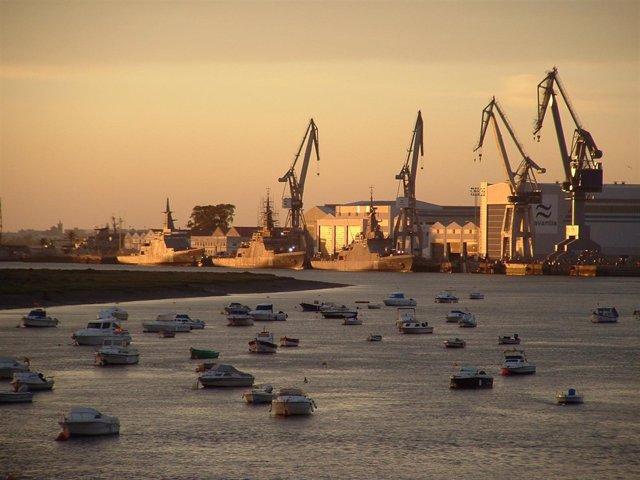 Astilleros de Navantia en San Fernando (Cádiz)