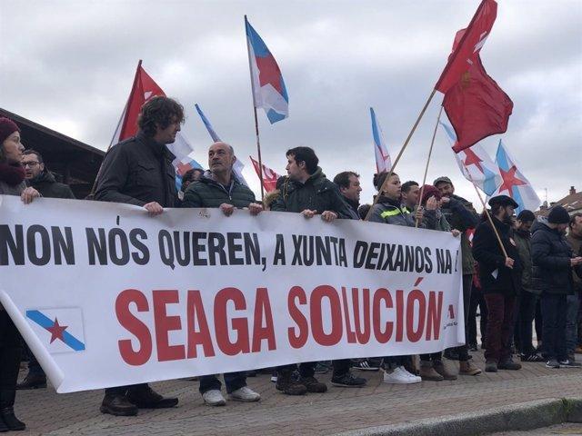 Protesta de Seaga ante la Xunta