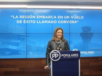 """El PP afirma que el PSOE """"no debería cortar la cinta de la inauguración"""" del aeropuerto por """"coherencia"""""""