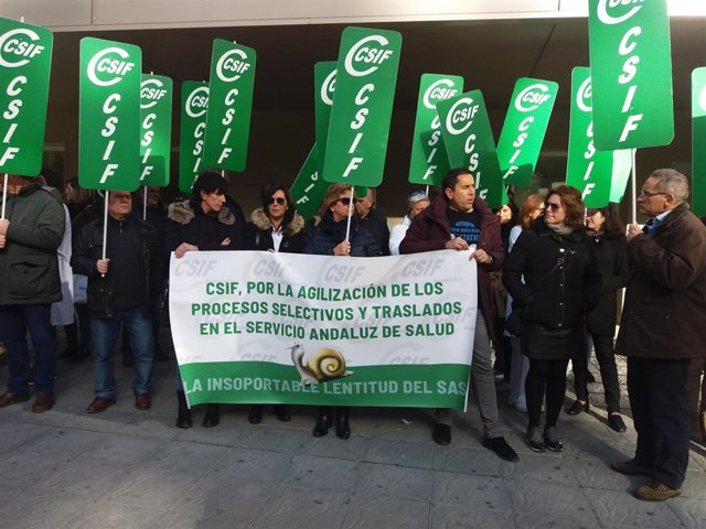 Movilización de la rama de Sanidad de CSIF-A en diciembre de 2018