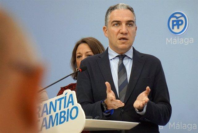 El portavoz regional del PP-A, Elías Bendodo