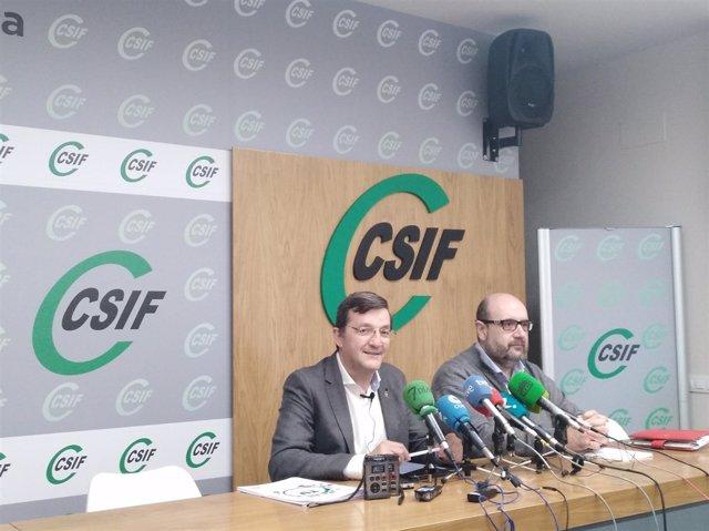 Benito Román atiende a los medios en rueda de prensa