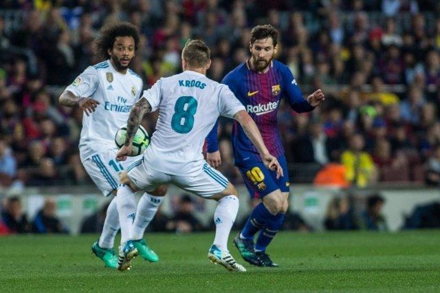 Kroos, Marcelo y Messi en el Clásico