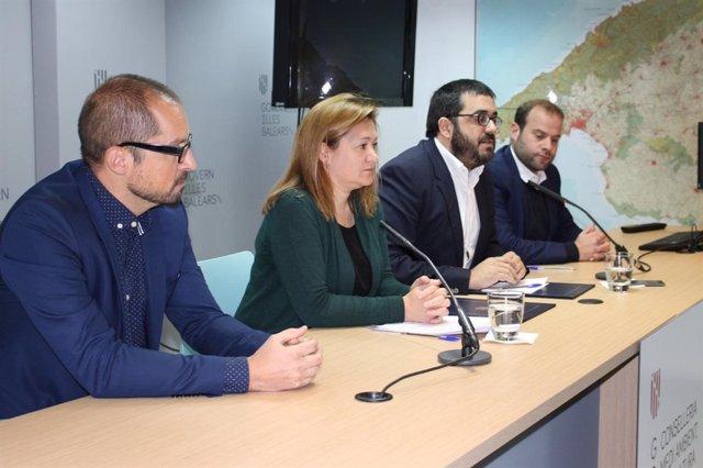 El conseller Vicenç Vidal en una imagen de la rueda de prensa