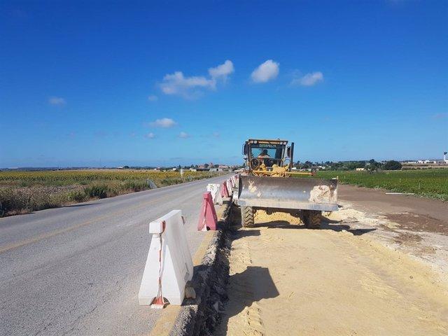 Obras en la A-2078 entre Chipiona y El Puerto