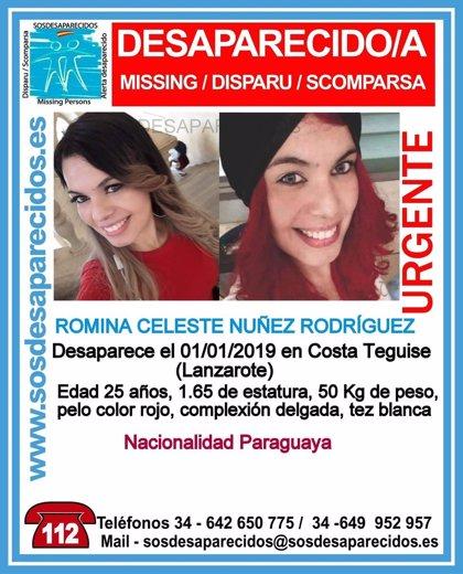 Detienen al marido de la joven paraguaya Romina Celeste Núñez por su desaparición en Lanzarote (España)