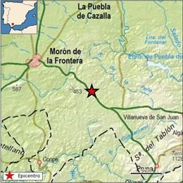 Terremoto registrado en Morón de la Frontera