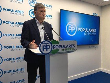 El PP afirma que el Gobierno olvida a Huelva y a los grandes proyectos de infraestructuras de la provincia