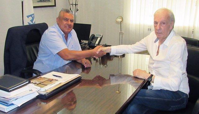 Claudio Tapia (AFA) y César Luis Menotti