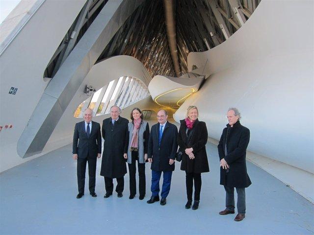 La ministra de Industria visita el Pabellón Puente, sede de Mobility City