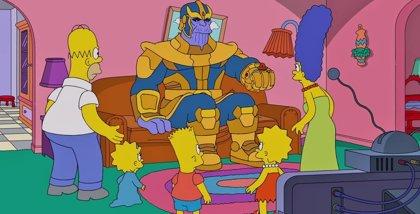 VÍDEO: Thanos convierte a Los Simpson en cenizas