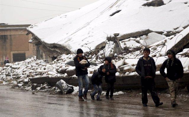UNICEF denuncia la muerte de 15 niños en Siria por el frío y la falta de atención médica