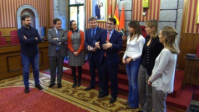 Mañueco con Lacalle en Burgos, 15-1-19