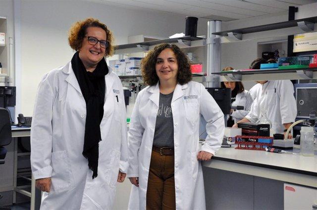 Maria José Gosalbes y Pilar Francino en estudio de Fisabio