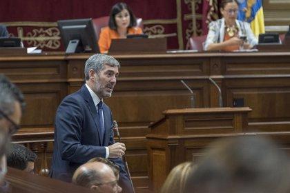 """Clavijo insta al Parlamento canario a hacer """"todos los esfuerzos"""" para corregir unos presupuestos """"injustos"""""""