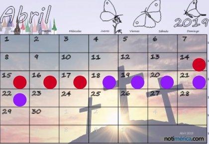 ¿Cuándo es la Semana Santa 2019?