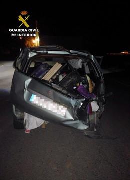 Vehículo fuga accidente