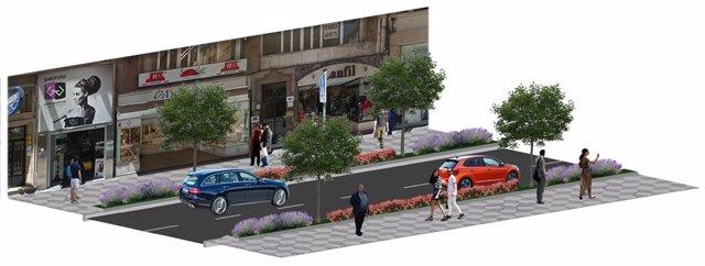 Infografía proyecto de renovación urbana en Isabel II
