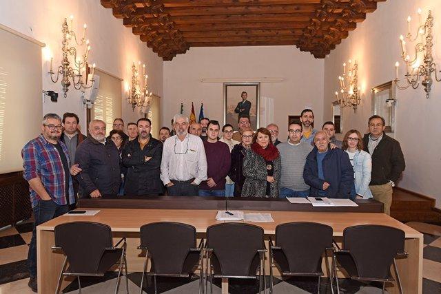 [Grupoextremadura] Foto Y Pie De Foto Mesa Electoral Diputación De Cáceres