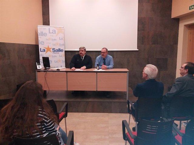 Javier Abad (I) y Fernando Rey (D) en Palencia 15-1-2018