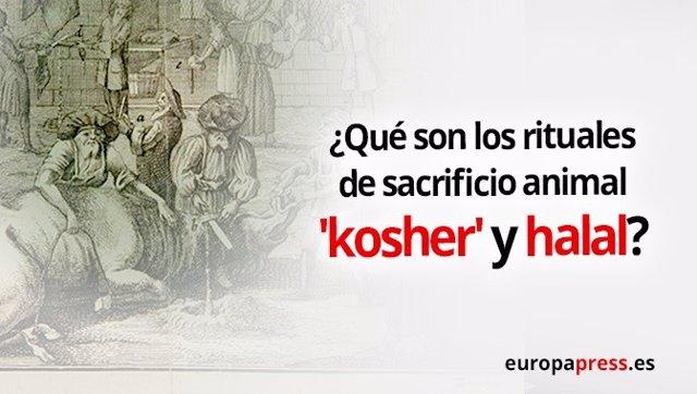 Portada de la noticia sobre qué son los rituales 'kosher' y halal