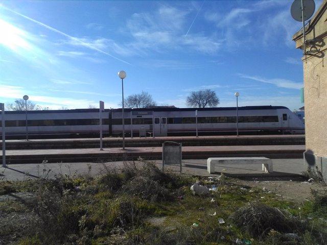 Tren descarrilat a Torrijos (Toledo)