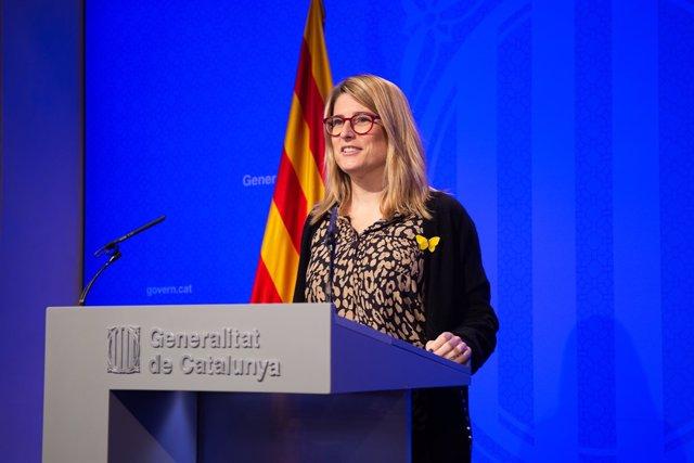 Roda de premsa al Palau de la Generalitat després del Consell Executiu