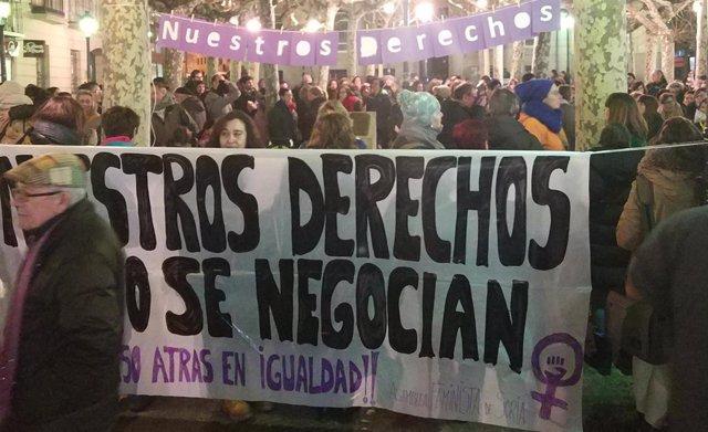 Manifestación en Soria por la igualdad.