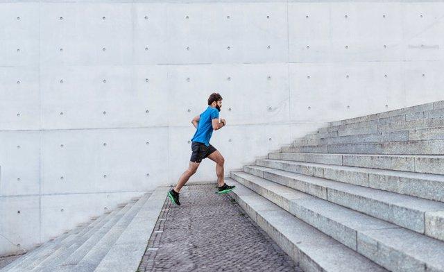 Hombre, correr, ejercicio