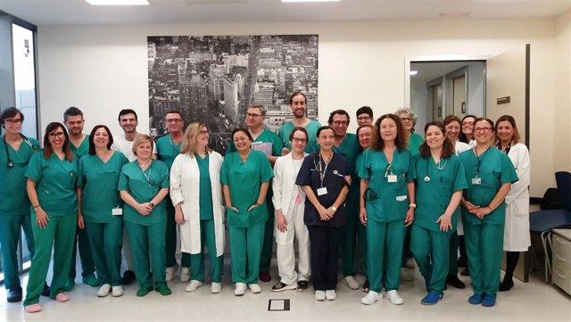 Equipo de profesionales del Servicio de Medicina Intensiva del H. Santa Lucía