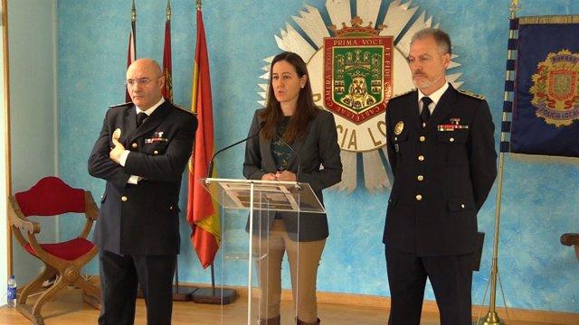 Fernando Sedano, Gema Conde y Félix Ángel García en Burgos 16-1-2019