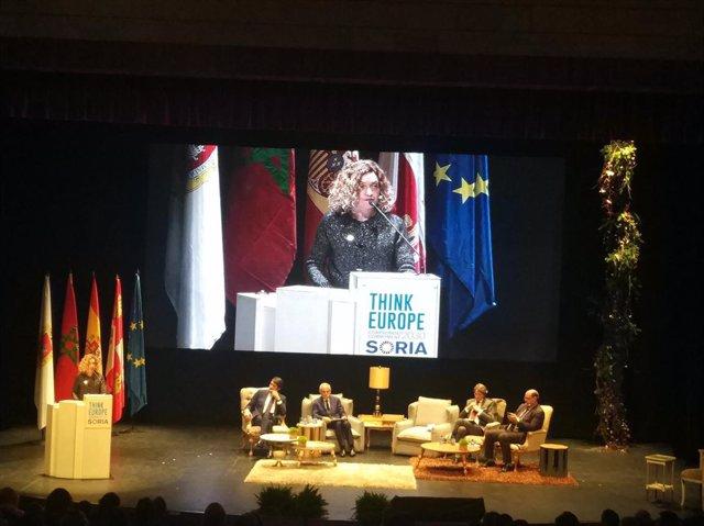 Batet en la inauguración de Think Europe en Soria 16-1-2019