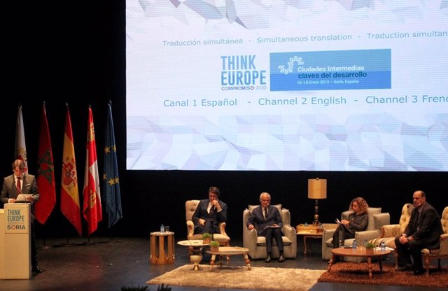 Inauguraicón de Think Europe en Soria 16-1-2019