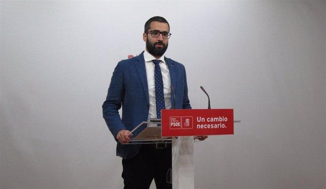 El portavoz y vicesecretario general del PSRM, Francisco Lucas