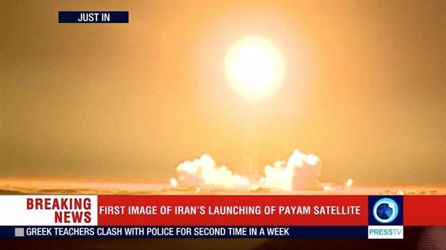 Lanzamiento de un satélite en Irán